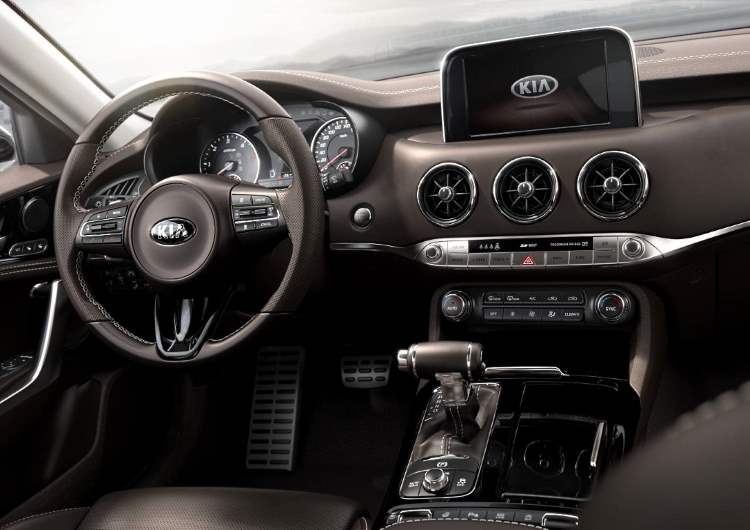 Dashboard for the Kia Stinger